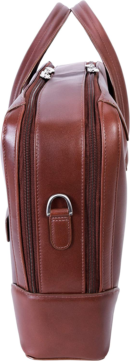 McKlein R Series Harpswell 17 Leather Dual Compartment Laptop Briefcase