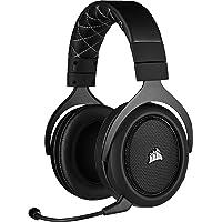 Corsair HS70 PRO Wireless Cuffie Gaming con Microfono, Audio 7.1 Surround, Wireless 2,4GHz a Bassa Latenza, 12 metri di Portata, Cancellazione del Rumore Microfono con PC, PS4 Compatibilità, Nero