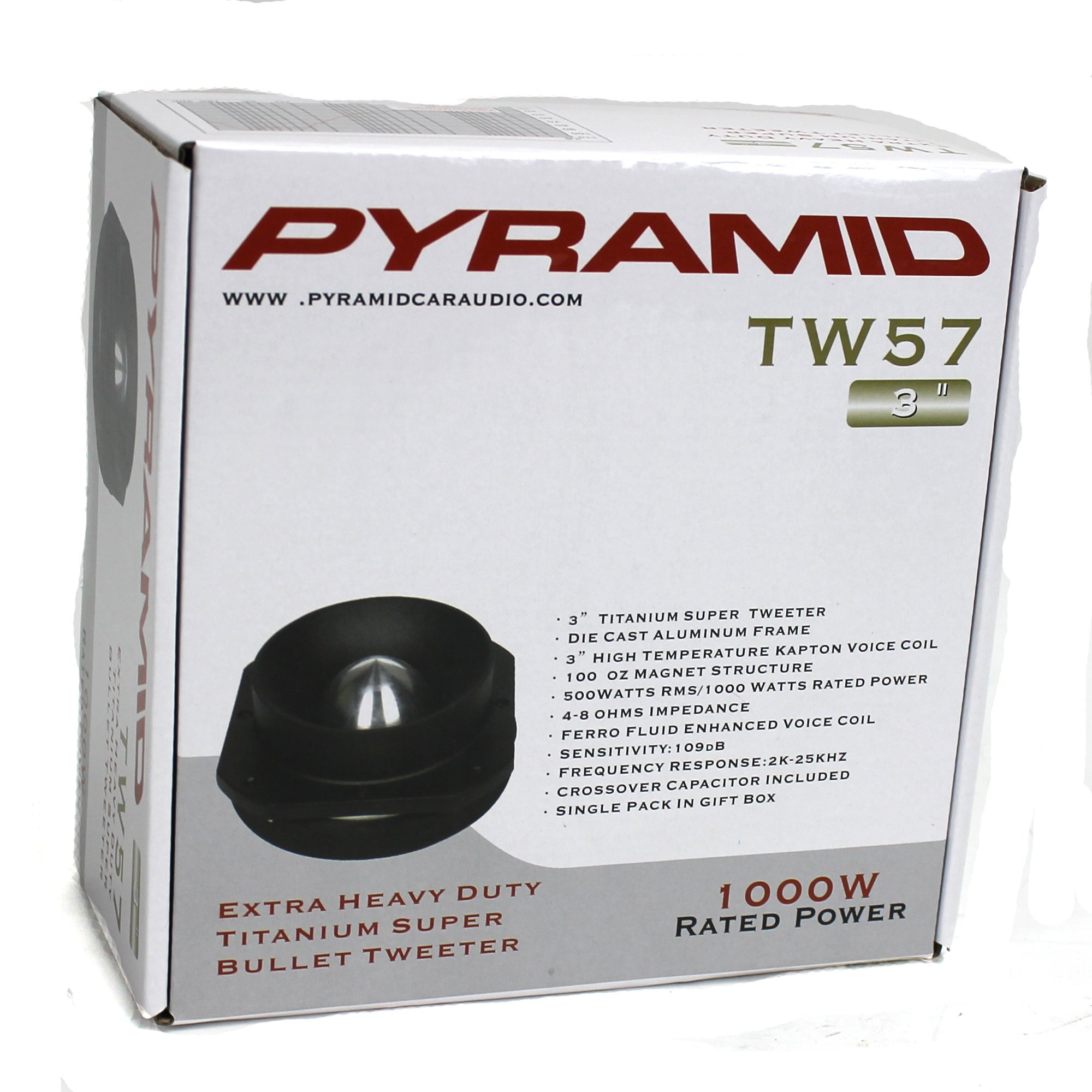 4) New Pyramid PRO TW57 3'' 4000W Titanium Car Audio Dome Bullet Super Tweeters by Pyramid
