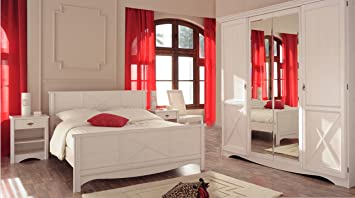 Wohnorama Schlafzimmer-Set 4-TLG inkl 140x200 Bett u ...
