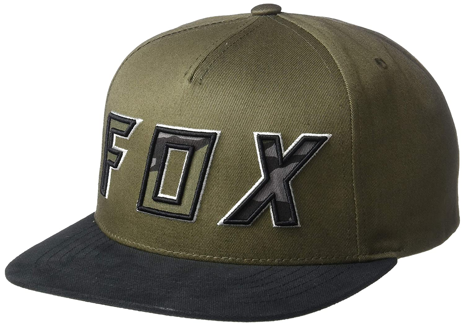 Fox Racing Mens Flat Bill Snapback Baseball Cap