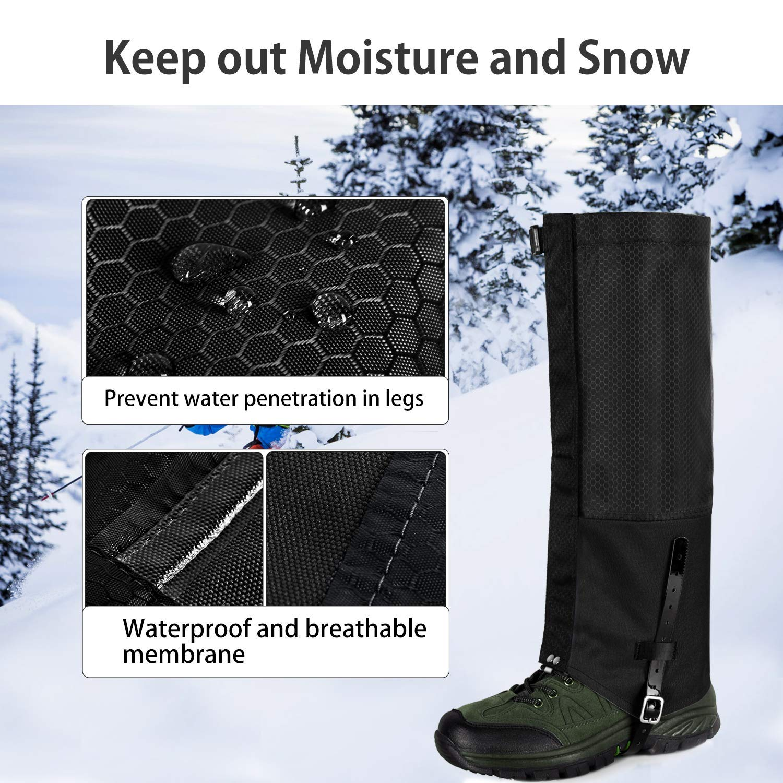 Unigear Polainas Impermeable 1 Par Prueba De Viento Nieve Lluvia Protecci/ón para Las Piernas para Monta/ña Senderismo Caza Esqu/í Escalada Guardia Anticorte Transpirable