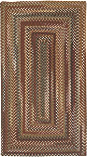 product image for Capel Rugs Bangor Cinnamon 5' x 8' Concentric Rectangle Braided Rug
