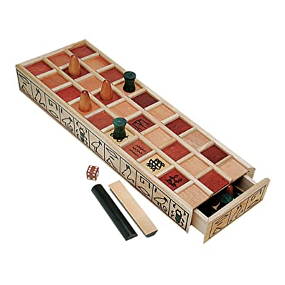 WE Games Wood Senet Game - An Ancient Egyptian Board Game: Toys & Games