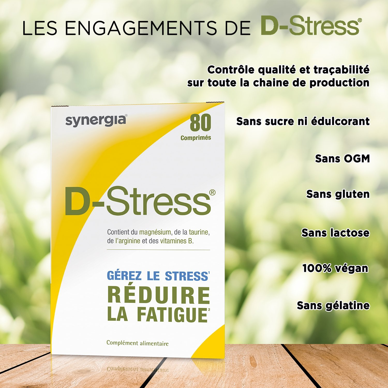 D-Stress - 80 comprimidos - magnesio altamente asimilado, taurina, arginina y vitaminas del grupo B - origen Francia - lote de 3: Amazon.es: Salud y cuidado ...