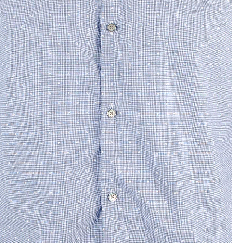 Mens Slim Fit Italian Fabric Long Sleeve Shirt