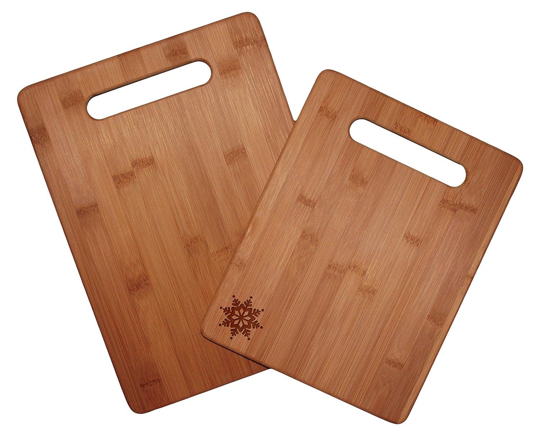 Totally Bamboo 20-2038-001 2-Piece Cutting Board Set, Lemon