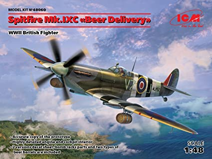Spitfire Mk Viii Us Air Force Escala 1//48 Icm Lacrado de Fábrica Kit modelo