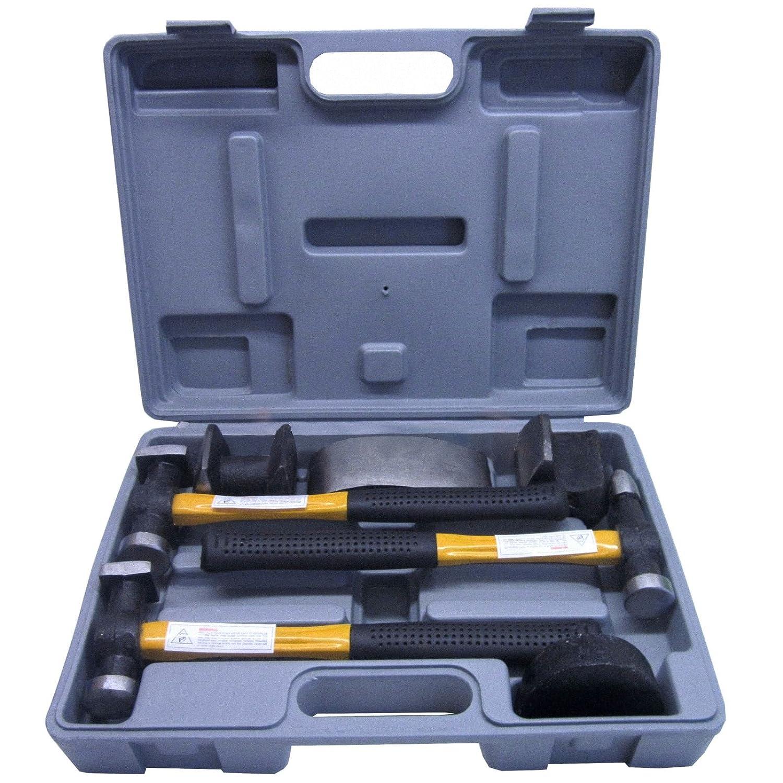 Panel Beating Hammers & Dollies / Body Repair Kit with Fibreglass Handles TE101 AB Tools