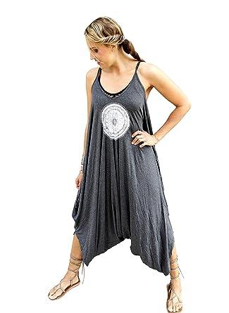 52dafce91a2da Amazon.com: Blonde Peacock Women's Mandala Yoga Jumpsuit Romper One Piece:  Clothing