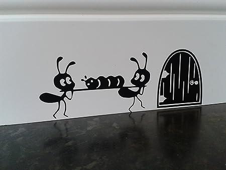 Souris Trou Ants Plinthe Sticker Mural En Vinyle 16 Cm X 6 Cm