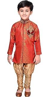 Desi Sarees Boys Kurta Dupion Bollywood Party Outfit 924