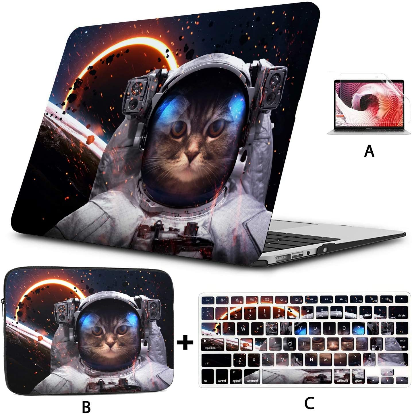 MacBook Air Skin Brave Cat Astronaut at The Spacewalk MacBook 15 Cover Hard Shell Mac Air 11//13 Pro 13//15//16 with Notebook Sleeve Bag for MacBook 2008-2020 Version