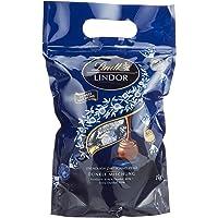 Lindt Lindor Dunkle Mischung, gefüllt mit einzeln verpackten Kugeln, Feinherb 45%, Dunkel 60% und Extra Dunkel 70%, 27 Kugeln pro Sorte, 1er Pack (1 x 1kg)