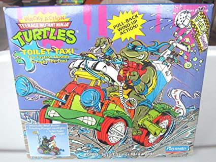 Toilet Taxi Mutant Ninja Turtles Wacky Action TMNT Playmates ...