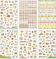 Hosaire 6 Sheet Pattern Cute Animals Stickers Transparent PVC DIY Decoration Diary Stickers Memo Scrapbooking Notebook Making Gift