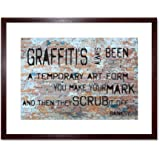 Quote Banksy Graffiti Temporary Form Quality Framed Wall Art Print 見積もりバンクシー落書き壁