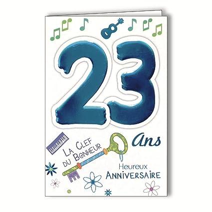 Age MV 69 - 2025 tarjeta cumpleaños 23 años joven hombre ...