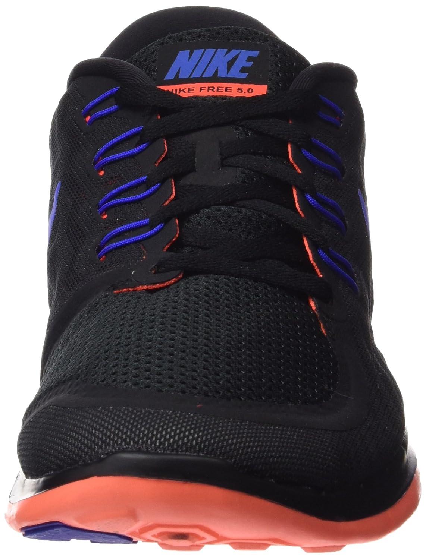 Nike Men's Free 5.0 Running Shoe B002T4MRKQ Large|Black/Total Crimson/Dark Grey/Racer Blue
