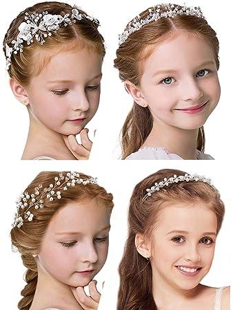 Girls Kids Bridal Bridemaid Princess Ballet Crystal Hair Crown Headband Tiara