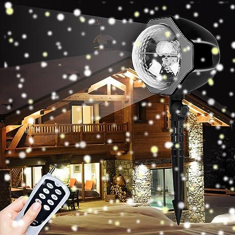 Amazon christmas lights christmas snowfall led lights fairy christmas lights christmas snowfall led lights fairy projector light with wireless remote white snowflakes aloadofball Gallery