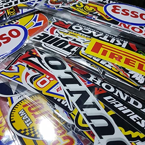 Amazon.com: 120 Pcs Racing Sticker Pack Vintage Decal Rare Original Motocross Motorcycle Car Decal Stickers: Automotive