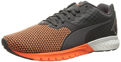 PUMA Men's Ignite Dual Nylon Cross-Trainer Shoe, Asphalt/Shocking Orange, 7