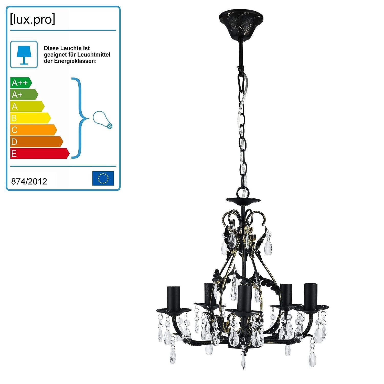 [lux.pro] luminaire suspendu lustre - Goethe - (5 x socle E14)(134cm x Ø 40cm) lustre (raccord de luminaire suspendu) lampe de chambre lampe de salle de séjour [Classe énergétique A+++] HT167780