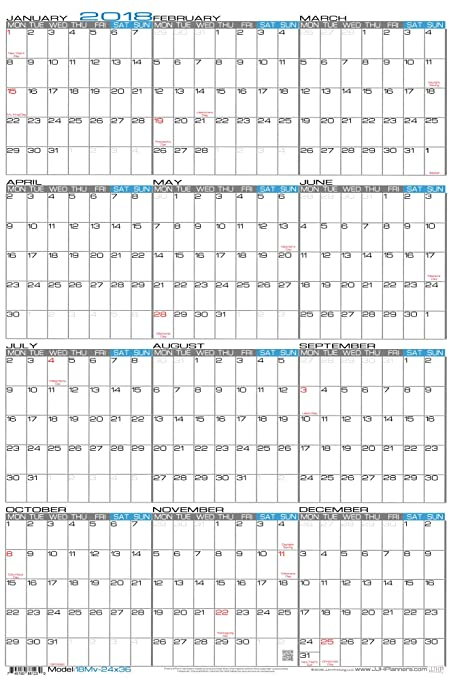 JJH Planners Paper 24 X 36 Large Monday Start