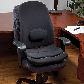 ObusForme Lowback Backrest Support System   Adjustable Lumbar Support,  Contoured Cushioning Support, Handles,