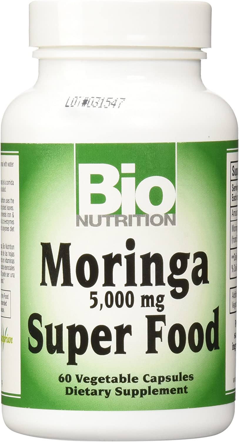 BIO NUTRITION INC Moringa 5,000 MG SUPR Food, 60 VCAP Pack of 2