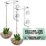 2-Pack Suction Cup Window Hanger – Hang Plants Indoors or Outdoors, Convenient Window Hanger for Bird Feeders, Ornaments and