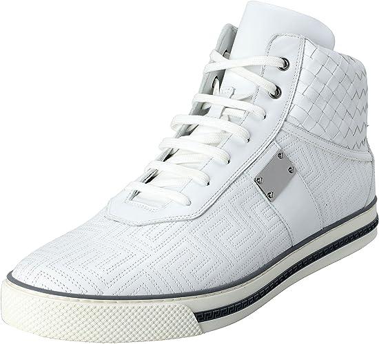 : Versace Gianni Men's Leather Hi Top Sneakers
