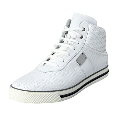 b1280e33bfb Amazon.com: Versace Gianni Men's Leather Hi Top Sneakers Shoes US 12 ...