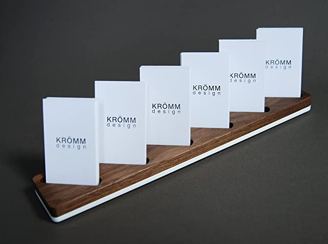 multiple vertical moo business card wood stand wood display for vertical business cards in walnut - Vertical Business Card Holder