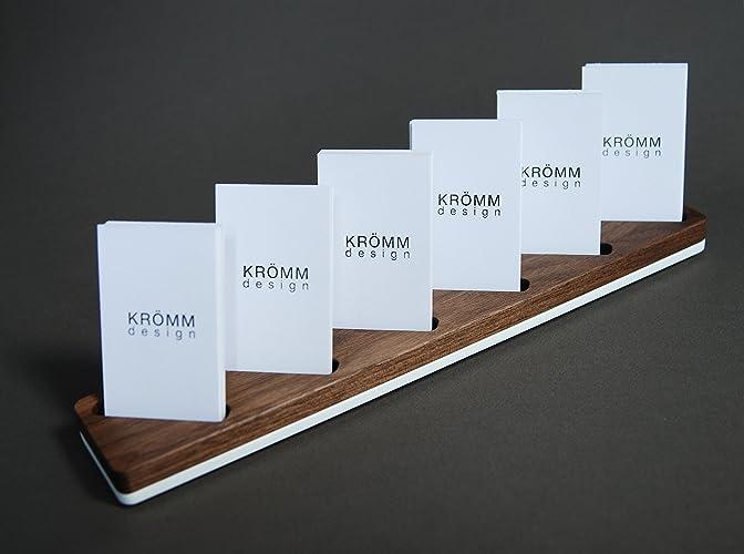 Amazon multiple vertical moo business card wood stand wood multiple vertical moo business card wood stand wood display for vertical business cards in walnut colourmoves