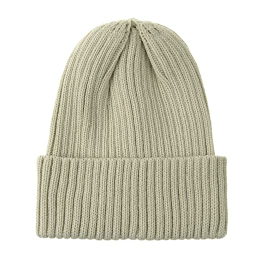 f2f78b814 WITHMOONS Knitted Ribbed Beanie Hat Basic Plain Solid Watch Cap AC5846