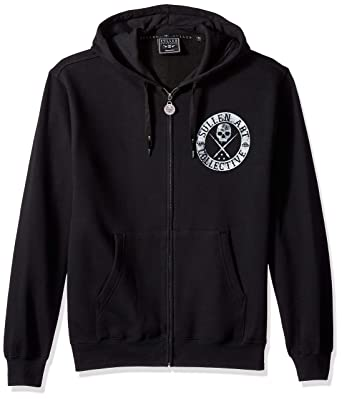 Sullen Art Collective Mens BOH Heavy Weight Zip Hoodie, Black Medium