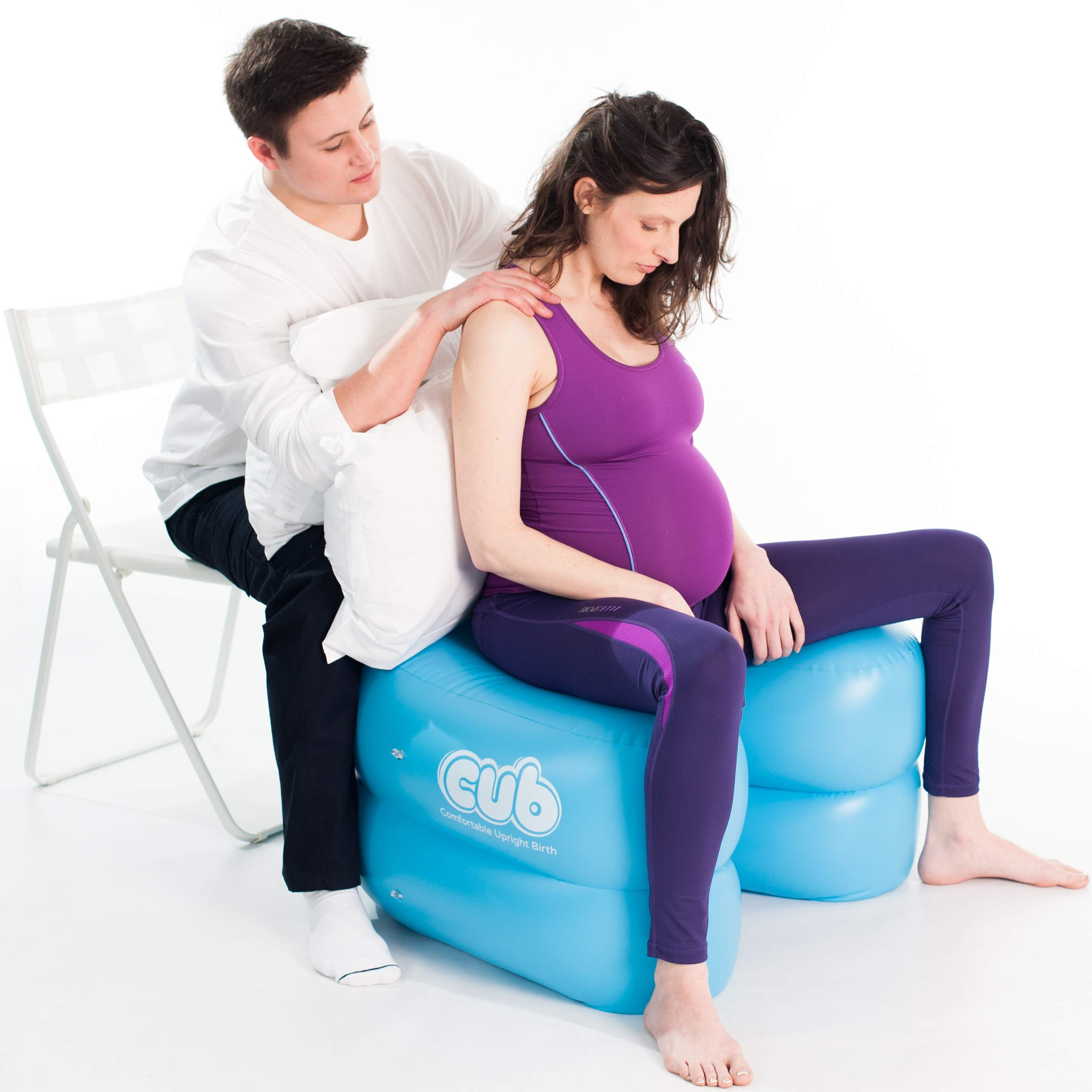 CUB Support for Pregnancy, Labor and Birth. Can Relieve Pregnancy Pelvic Pain, Promotes Safe, Healthy and Natural Birth Positions. Much More Than a Stool or Birthing Ball (Color Teal/One Size) by CUB