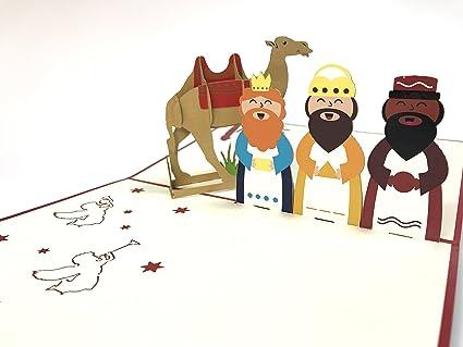 Tres hombres sabios Árbol de Navidad Papá Noel Muñeco de nieve ...