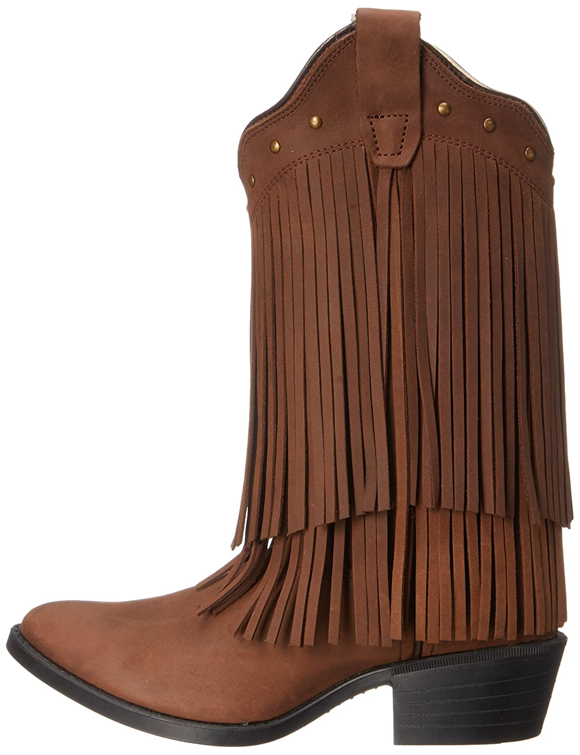 Old West Jama Corporation Boys Kids Brown Fringe Cowgirl Boots