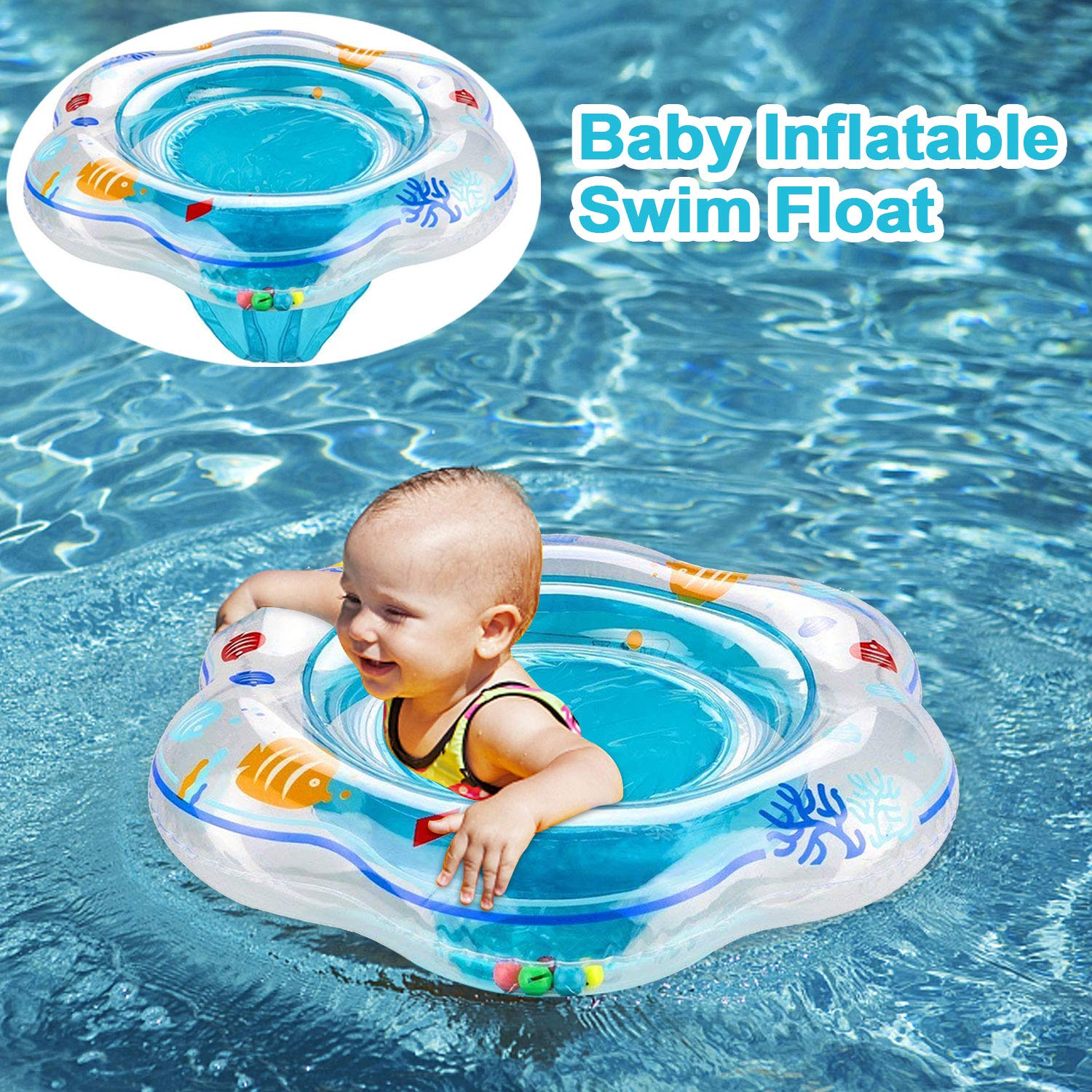 e5348979fd COWEAL Baby Swimming Float, Inflatable Swim Ring for Infant Kids Toddler  Boys Girls Baby Summer Pool Float Seat Boats Outdoor Indoor Water Bath Toys  Beach ...