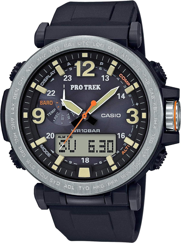 Casio Men's PROTREK Japanese-Quartz Watch with Resin Strap, Black, 23.77 (Model: PRG-600-1CR