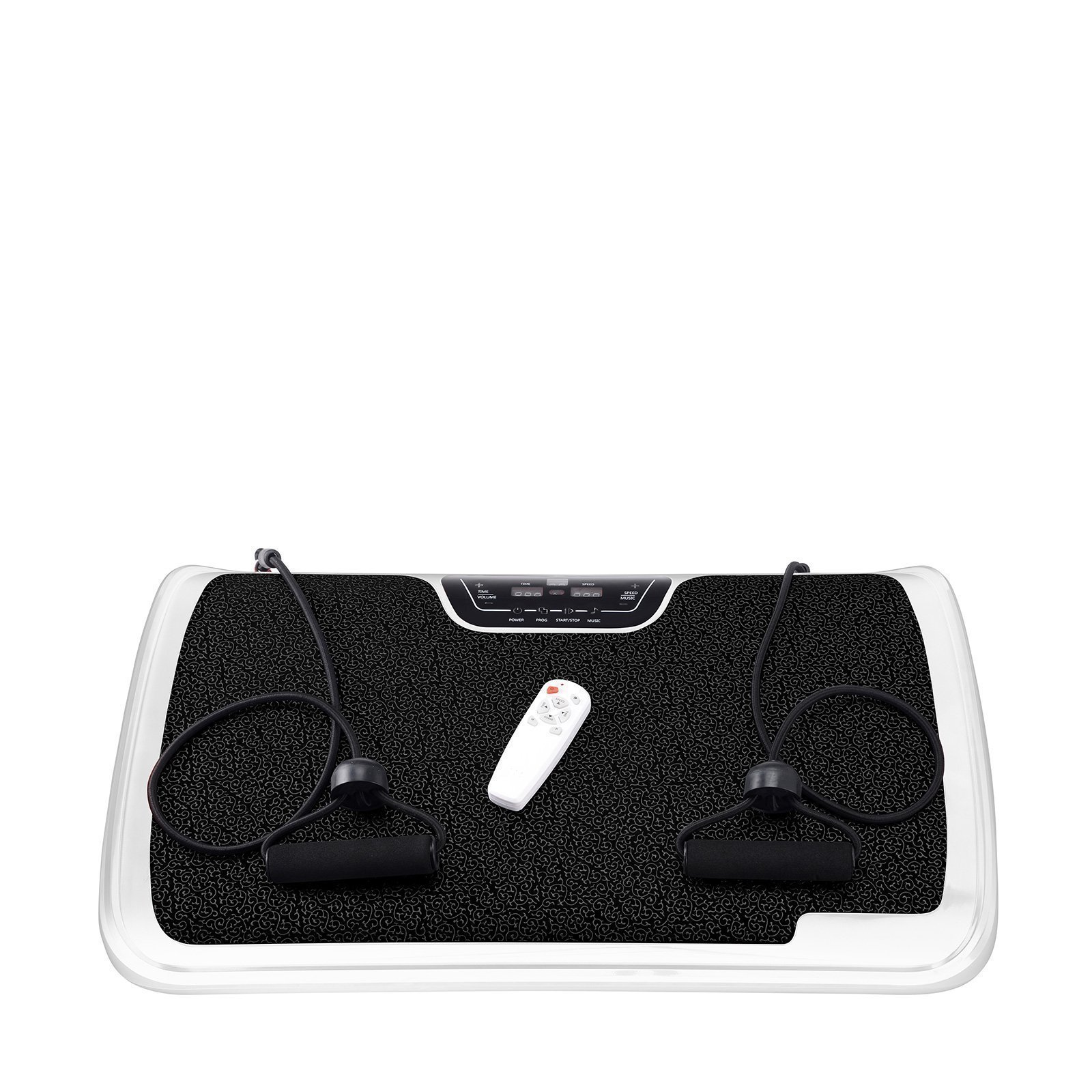 VibroSlim Tone Vibration Platform Fitness Machine, Oscillating Vibration Trainer + Free Workout DVD, Wall Chart & Resistance Bands (White) by VibroSlim (Image #4)