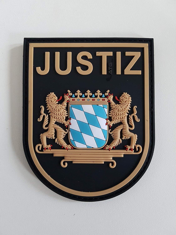 ATG /Ärmelabzeichen JUSTIZ Bayern 3 D Rubber Patch BlackOps