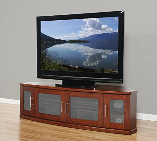 Plateau Newport 62 B Corner Wood TV Stand, 62-Inch, Black Oak Finish