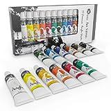 Castle Art Supplies Acrylic Paint Set for Beginners, Students or Artists, 12 x 12 millilitre Tubes, Vivid Colors