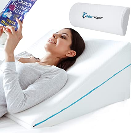 Relax Support Rs6 Wedge Pillow Whole Memory Foam 3 In 1 Technology Large Adjustable Bed Pillow For Reflux Reading Snoring Sleeping To Support Body Back Neck Legs Pregnancy Kitchen Dining