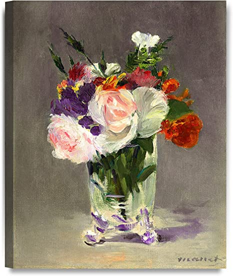 Amazon Com Decorarts Flowers In A Crystal Vase By Edouard Manet Oil Painting Reproduction Giclee Print On 100 Cotton Canvas Wall Art For Home Decor And Wall Decor 16x20 Posters Prints