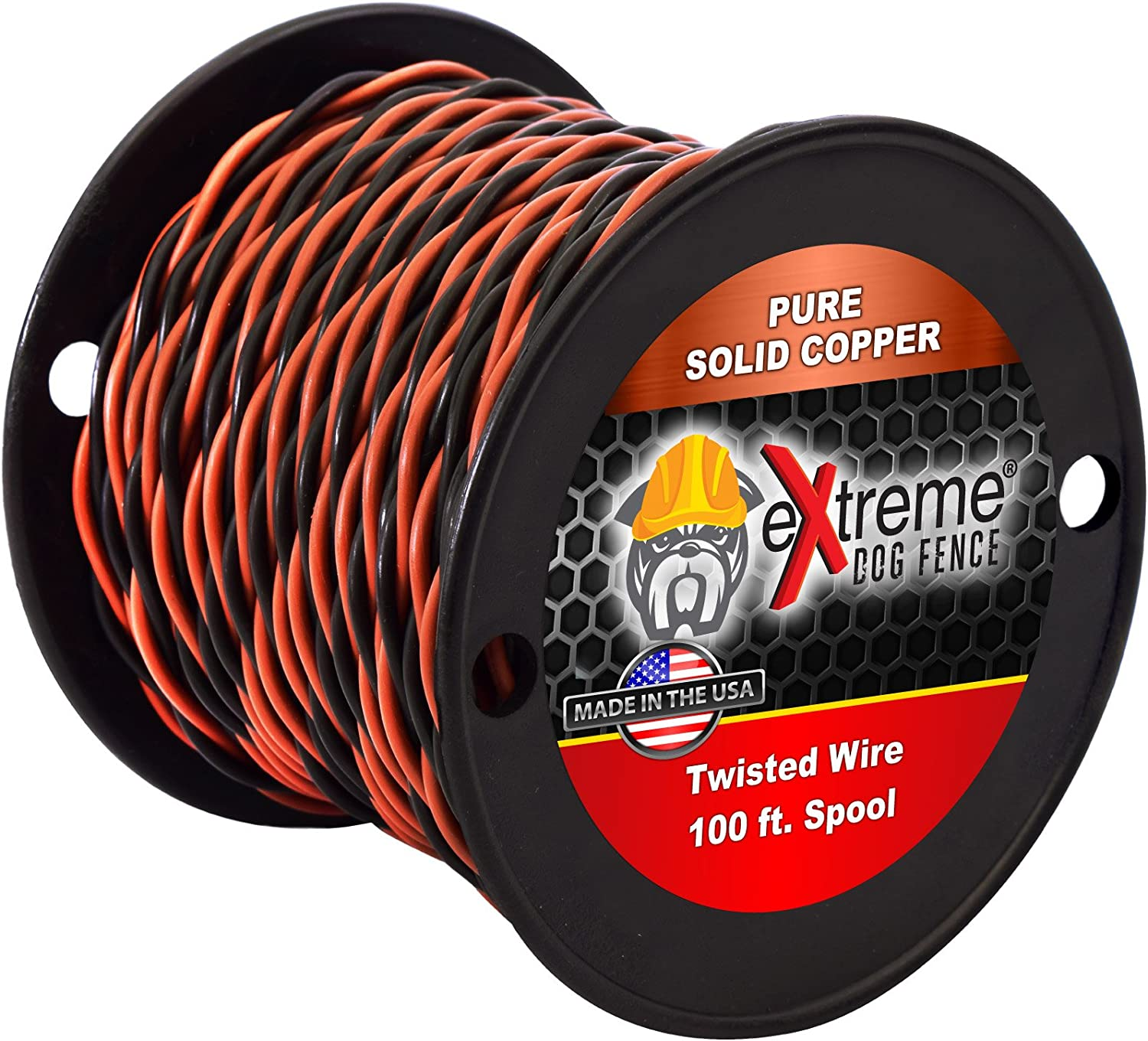 Twisted Transmitter Wire for All Electric Dog Fence Systems – 16 Gauge Solid Core Copper – Polyethylene Coated – Multiple Lengths